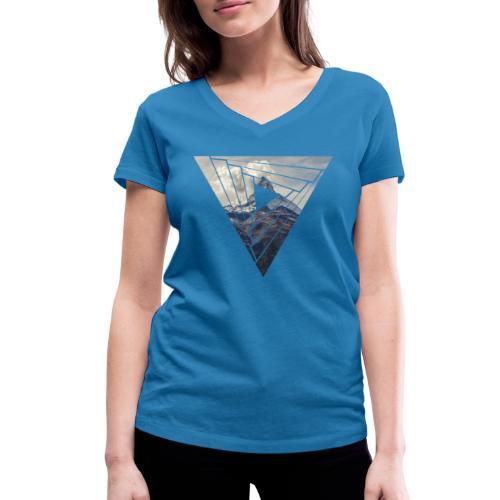 Matterhorn Zermatt Dreieck Design - Frauen Bio-T-Shirt mit V-Ausschnitt von Stanley & Stella