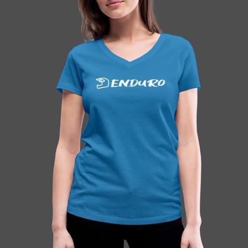 Enduro - Ekologiczna koszulka damska z dekoltem w serek Stanley & Stella