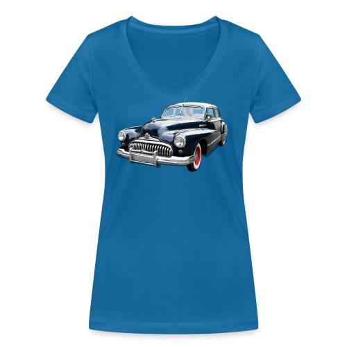 Classic Car. Buick zwart. - Vrouwen bio T-shirt met V-hals van Stanley & Stella