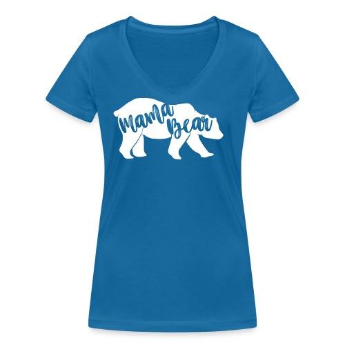 Mama Bear - für Eltern-Baby-Partnerlook - Frauen Bio-T-Shirt mit V-Ausschnitt von Stanley & Stella