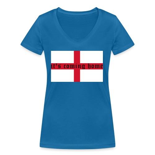 England 21.1 - Frauen Bio-T-Shirt mit V-Ausschnitt von Stanley & Stella