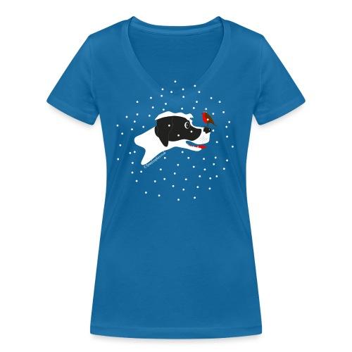 English pointer robin - Women's Organic V-Neck T-Shirt by Stanley & Stella