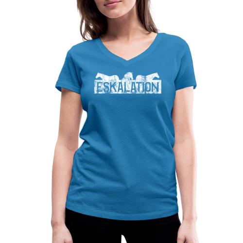 Eskalation - Frauen Bio-T-Shirt mit V-Ausschnitt von Stanley & Stella