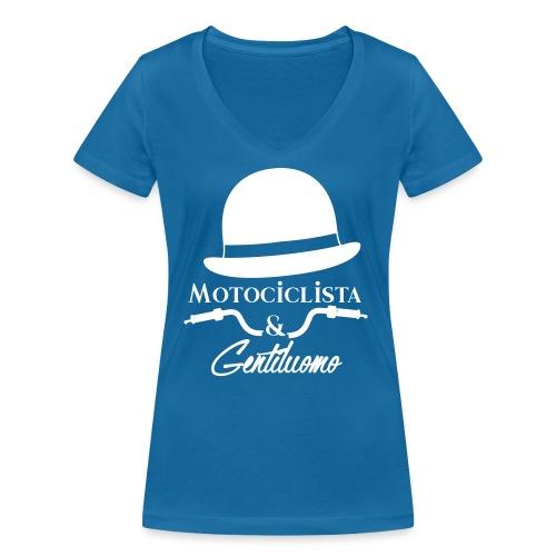 Motociclista & Gentiluomo - T-shirt ecologica da donna con scollo a V di Stanley & Stella