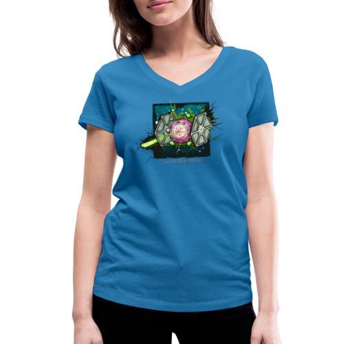 C-Fighter - Frauen Bio-T-Shirt mit V-Ausschnitt von Stanley & Stella