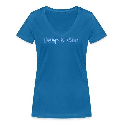 Deep&Vain Text Logo - Vrouwen bio T-shirt met V-hals van Stanley & Stella