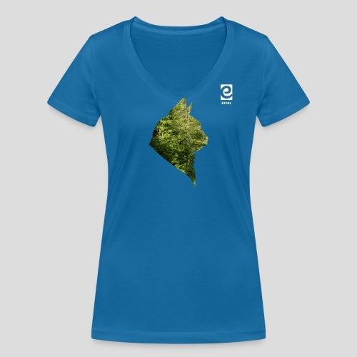 Eifel Wildkatze - weiß - Frauen Bio-T-Shirt mit V-Ausschnitt von Stanley & Stella