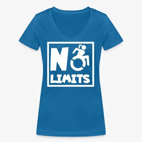 Geen grenzen voor deze dame in rolstoel - Vrouwen bio T-shirt met V-hals van Stanley & Stella