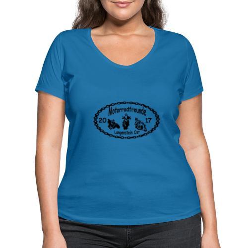 Motorradfreunde schwarz - Frauen Bio-T-Shirt mit V-Ausschnitt von Stanley & Stella
