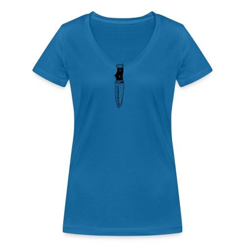 coltello knife - T-shirt ecologica da donna con scollo a V di Stanley & Stella