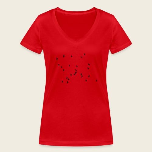 Flying birds - Økologisk Stanley & Stella T-shirt med V-udskæring til damer