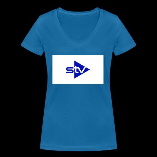 Skirä television - Ekologisk T-shirt med V-ringning dam från Stanley & Stella