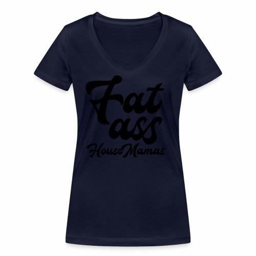 fatasshousemamas - Stanley & Stellan naisten v-aukkoinen luomu-T-paita