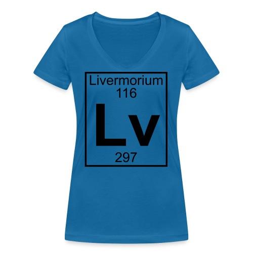 Livermorium (Lv) (element 116) - Women's Organic V-Neck T-Shirt by Stanley & Stella