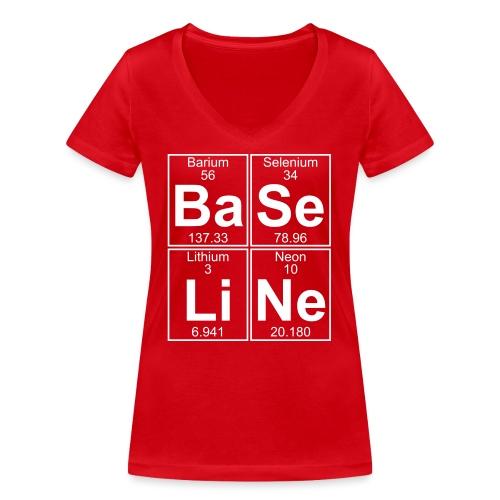 Ba-Se-Li-Ne (baseline) - Full - Women's Organic V-Neck T-Shirt by Stanley & Stella
