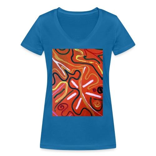Antonius´ Afrika - Camiseta ecológica mujer con cuello de pico de Stanley & Stella