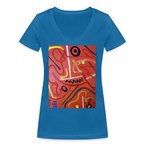 Antonius' Afrika2 - Camiseta ecológica mujer con cuello de pico de Stanley & Stella