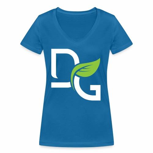 DrGreen Logo Symbol weiss grün - Frauen Bio-T-Shirt mit V-Ausschnitt von Stanley & Stella