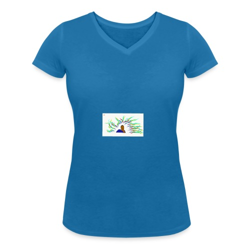 Project Drawing 1 197875703 - Women's Organic V-Neck T-Shirt by Stanley & Stella