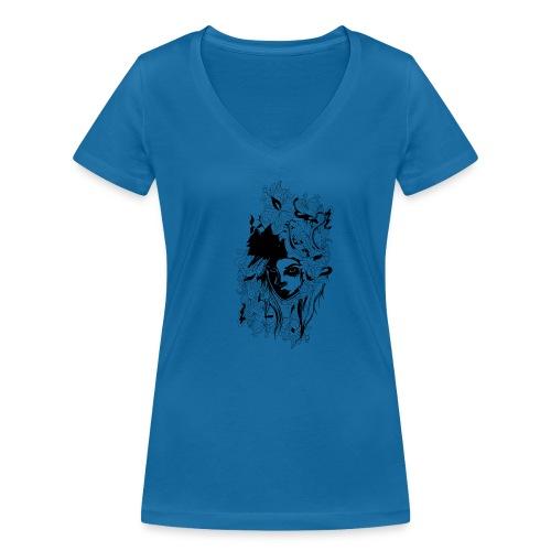 Akasacian tshirt design 611 - Camiseta ecológica mujer con cuello de pico de Stanley & Stella