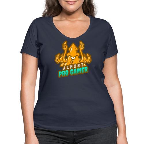Almost pro gamer YELLOW - T-shirt ecologica da donna con scollo a V di Stanley & Stella