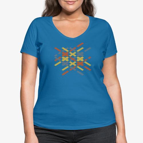 Autobahnkreuze Fragment bunt - Frauen Bio-T-Shirt mit V-Ausschnitt von Stanley & Stella