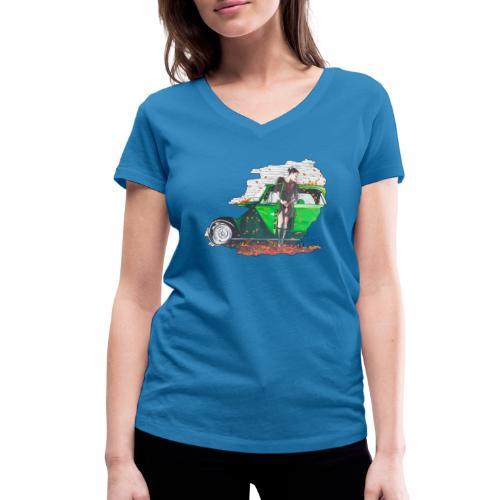 Fall - Frauen Bio-T-Shirt mit V-Ausschnitt von Stanley & Stella