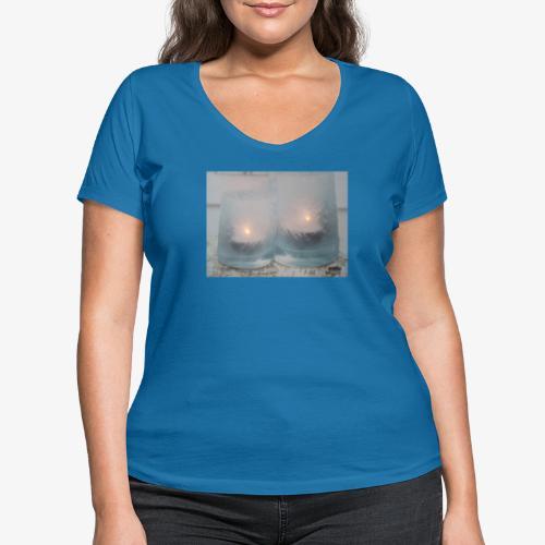 Selectie kaarslicht - Vrouwen bio T-shirt met V-hals van Stanley & Stella