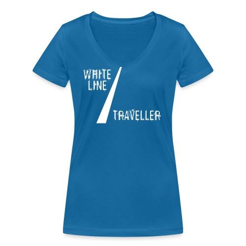 white line traveller - Vrouwen bio T-shirt met V-hals van Stanley & Stella