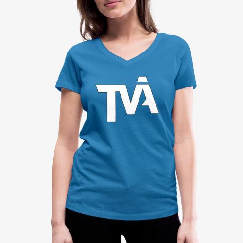 TVÅHUNDRA VIT - Ekologisk T-shirt med V-ringning dam från Stanley & Stella