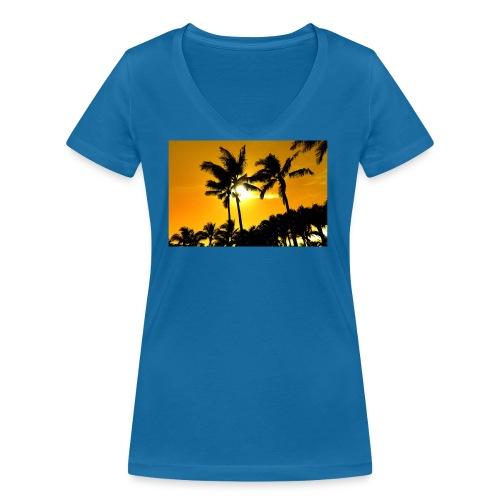 pam trees - Ekologisk T-shirt med V-ringning dam från Stanley & Stella