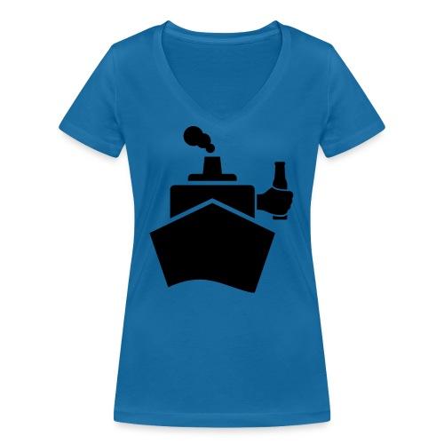 King of the boat - Frauen Bio-T-Shirt mit V-Ausschnitt von Stanley & Stella