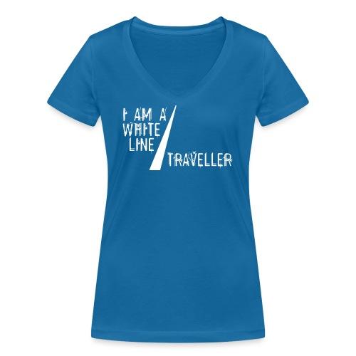 i am a white line traveller - Vrouwen bio T-shirt met V-hals van Stanley & Stella