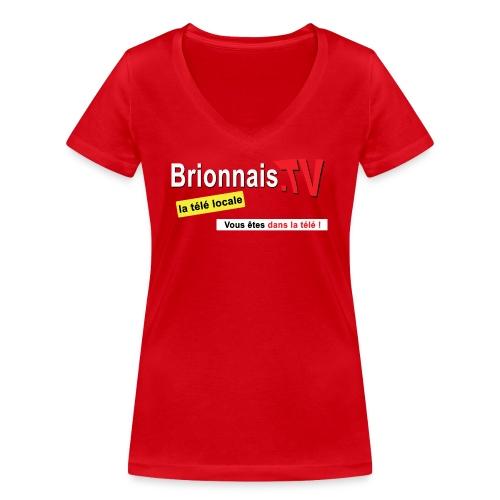 BTV logo shirt dos - T-shirt bio col V Stanley & Stella Femme