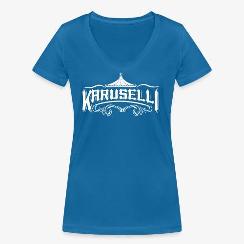Karuselli - Stanley & Stellan naisten v-aukkoinen luomu-T-paita