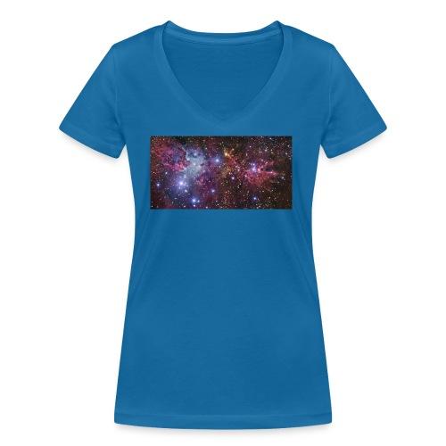 Stjernerummet Mullepose - Økologisk Stanley & Stella T-shirt med V-udskæring til damer