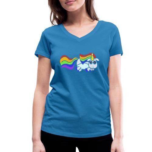 Nyan unicorn - T-shirt ecologica da donna con scollo a V di Stanley & Stella