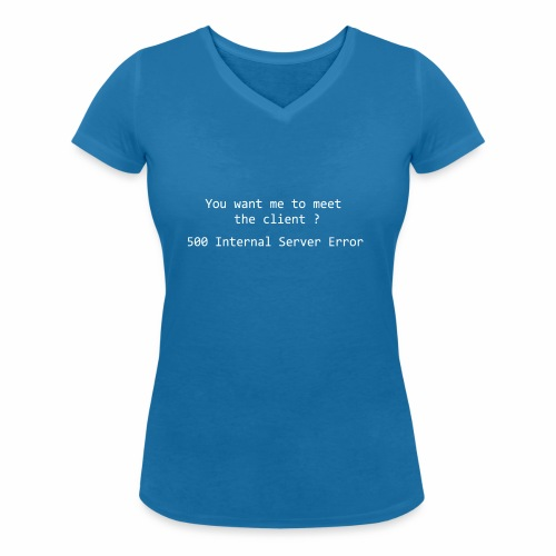 Meet the client - black - Women's Organic V-Neck T-Shirt by Stanley & Stella