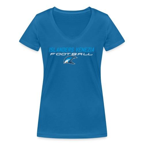 islanders football new logo - T-shirt ecologica da donna con scollo a V di Stanley & Stella