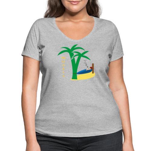 Mallorca - Urlaub unter Palmen - Frauen Bio-T-Shirt mit V-Ausschnitt von Stanley & Stella