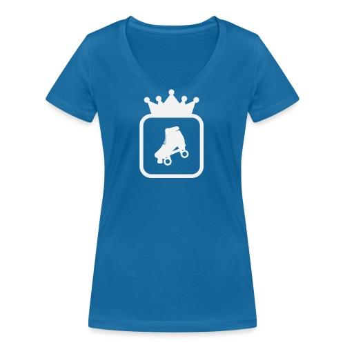 Speedskater Skating Krone - Frauen Bio-T-Shirt mit V-Ausschnitt von Stanley & Stella