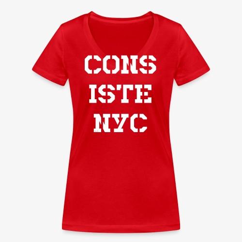 Consistency - weiß - Frauen Bio-T-Shirt mit V-Ausschnitt von Stanley & Stella