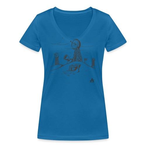 ligne de base arctique croquis - T-shirt bio col V Stanley & Stella Femme