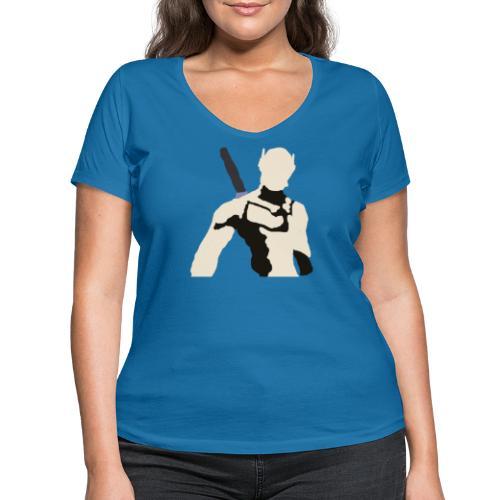 Genji - Ekologiczna koszulka damska z dekoltem w serek Stanley & Stella