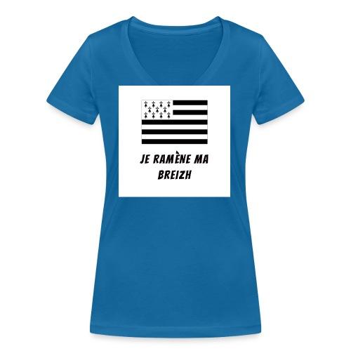 je ramene ma breizh - T-shirt bio col V Stanley & Stella Femme