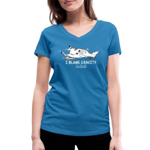 Schwerkraft - Pferdespruch Comic - Frauen Bio-T-Shirt mit V-Ausschnitt von Stanley & Stella