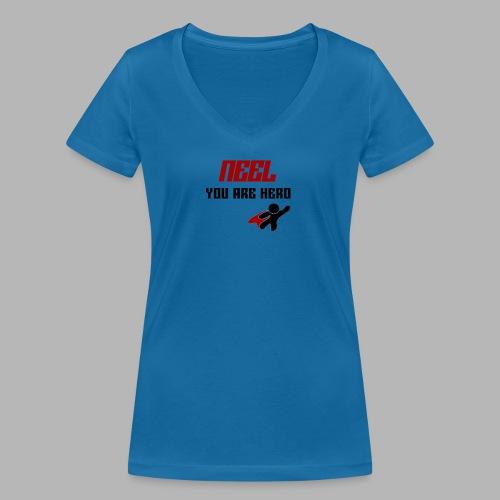 NEEL You Are Hero - Ekologiczna koszulka damska z dekoltem w serek Stanley & Stella