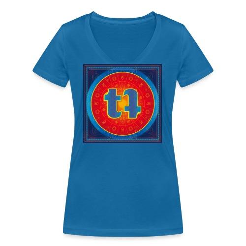 turn turQuoise Logo - Frauen Bio-T-Shirt mit V-Ausschnitt von Stanley & Stella