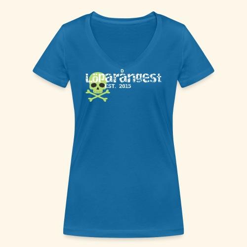 loeparangest - Ekologisk T-shirt med V-ringning dam från Stanley & Stella