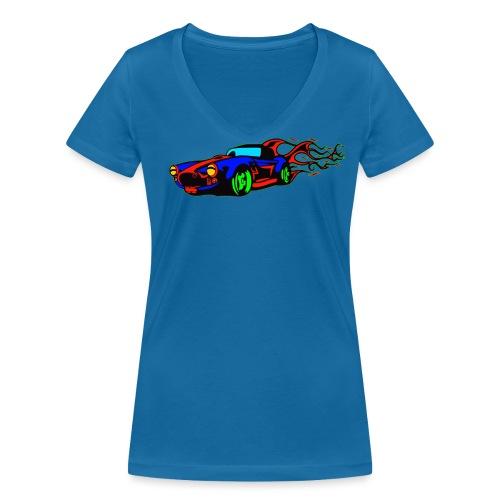 auto fahrzeug tuning - Frauen Bio-T-Shirt mit V-Ausschnitt von Stanley & Stella